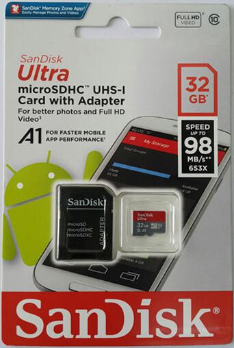 Thẻ nhớ 32gb micro 98mb/s