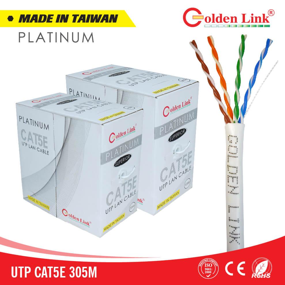 Dây cáp mạng Golden Link UTP Cat 5e Platinum TAIWAN 305m/c