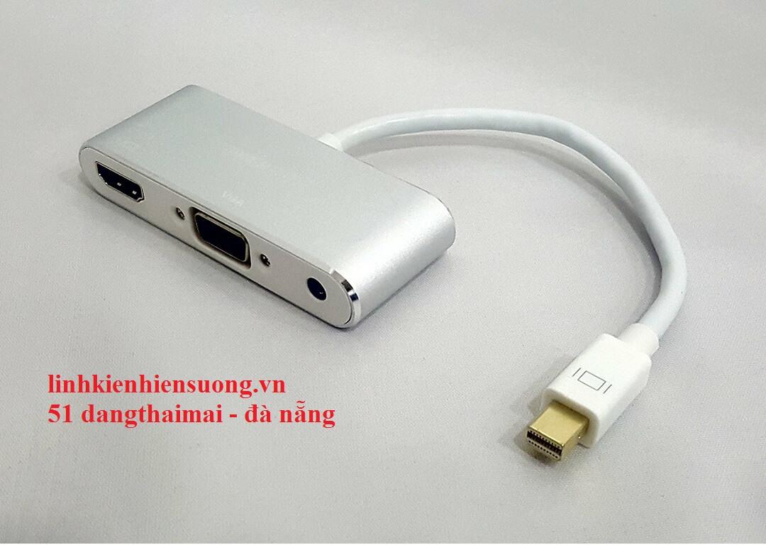Cáp Minidisplayport -> Hdmi + Vga+ Audio Kingmaster (KY-M364S)