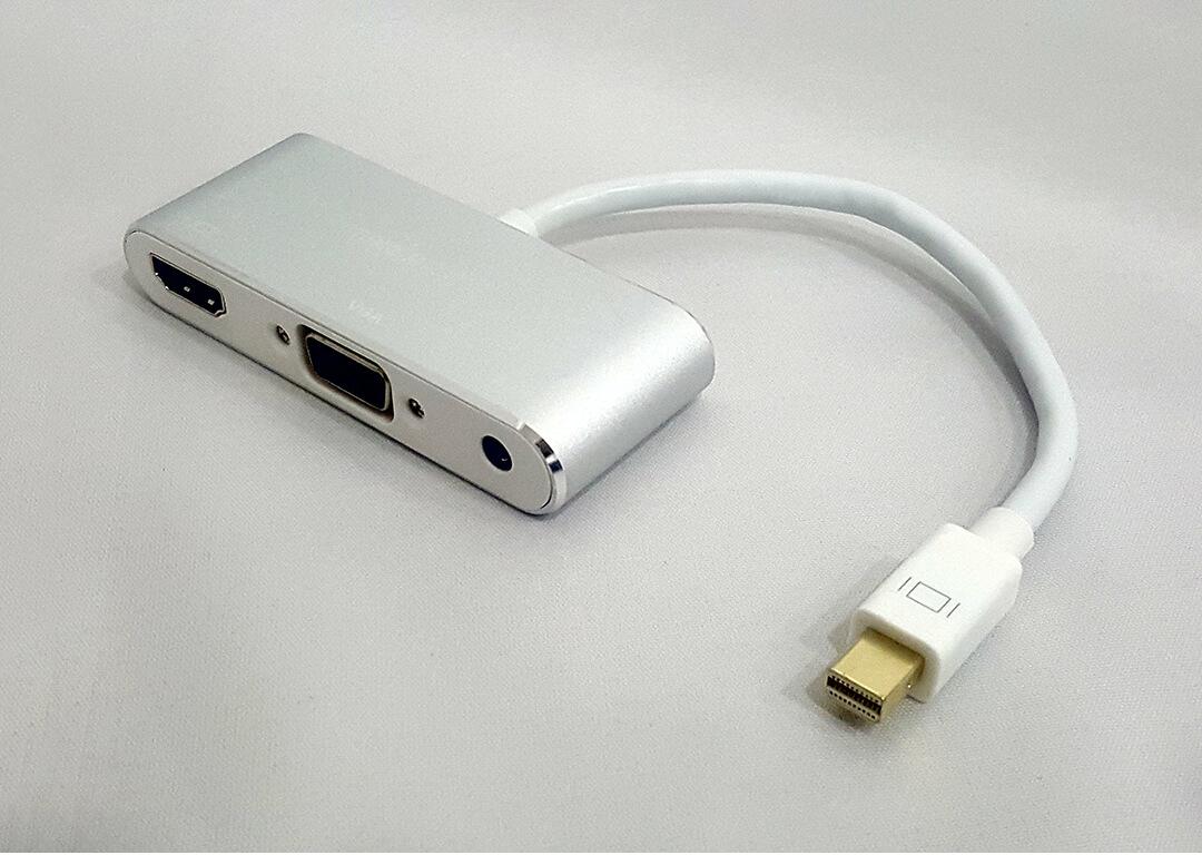 Cáp Mini displayport -> Hdmi + Vga + Audio Kingmaster (KY-M364S)