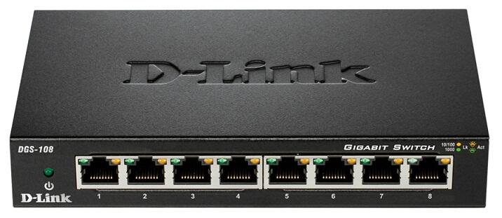 Switch D-Link 8 port DGS-108 100/1000