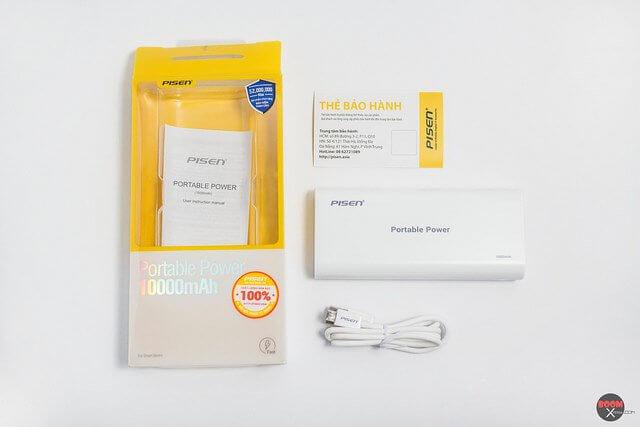 Pin dự phòng Pisen 10000mah chính hãng dành cho Xperia