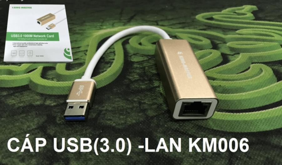 Cáp USB (3.0) – LAN KM006