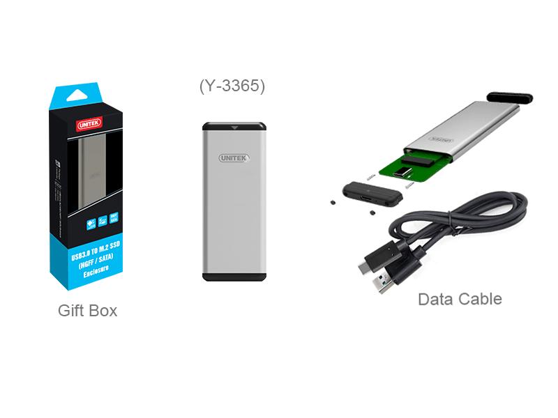 Box chuyển SSD M2 Sata sang ổ cứng di động Unitek Y-3365