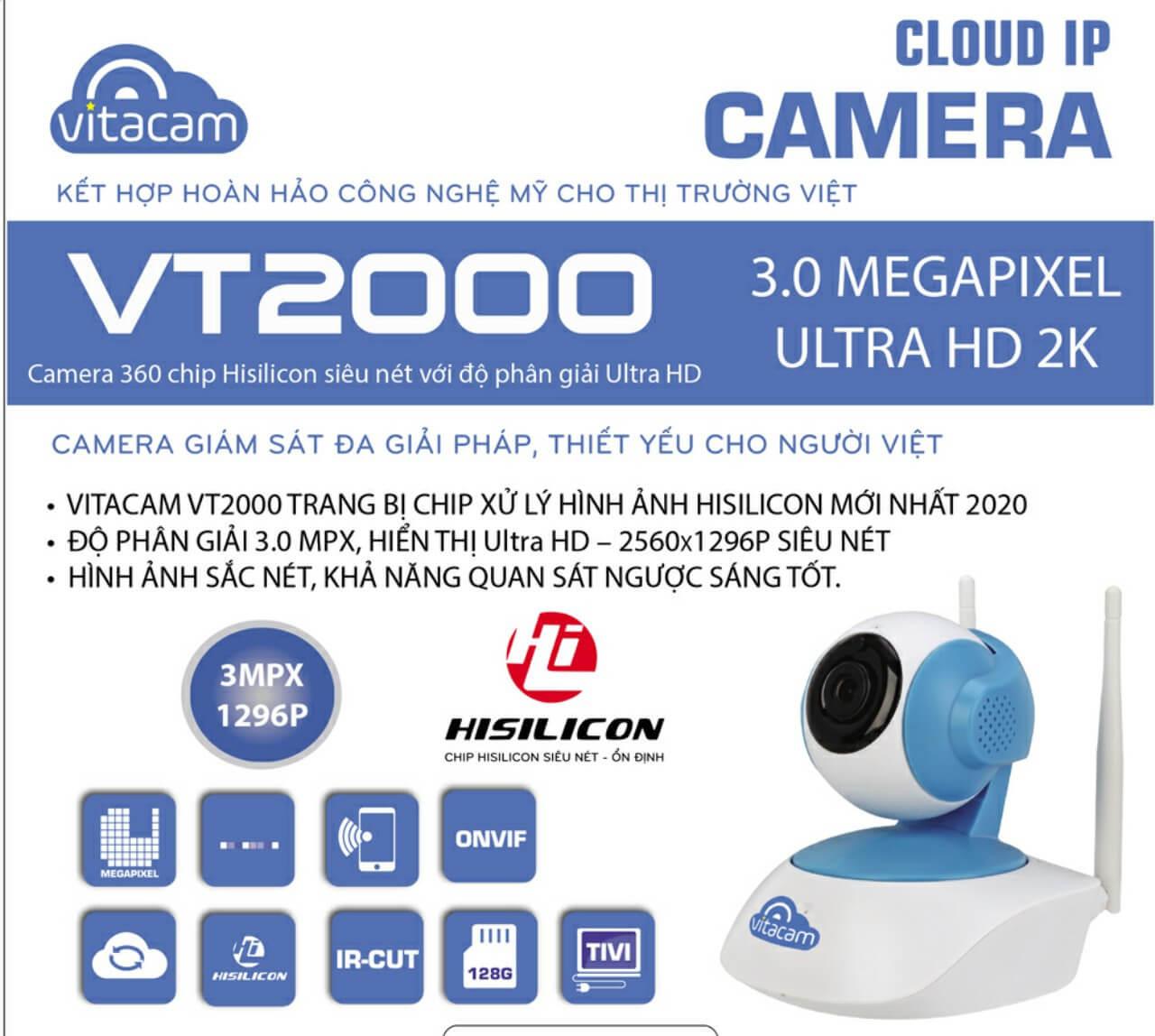 `Camera Vitacam VT2000 3.0 Mpx