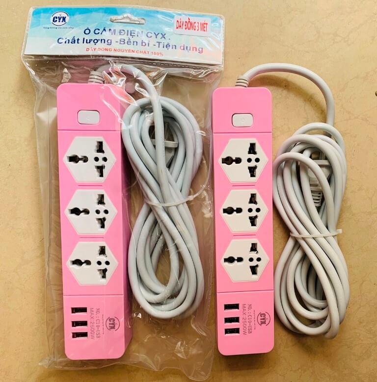 Ổ CẮM ĐIỆN 3 LỔ 3 USB