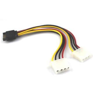Cáp chia nguồn SATA ra 2 ATA IDE 4PIN cho HDD/DVD 20Cm-C13