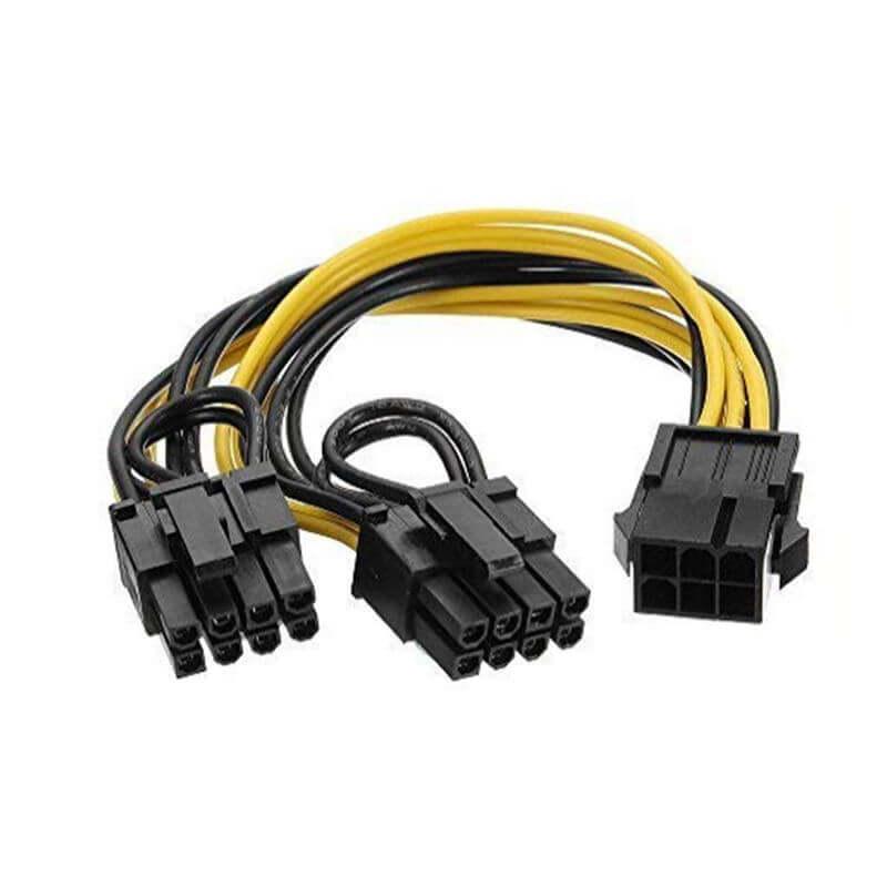 Cáp chia nguồn VGA 6pin ra 2x8Pin (6+2) cấp nguồn cho card VGA-C15